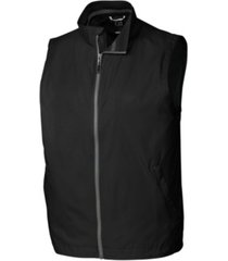 cutter & buck men's big & tall nine iron full zip vest
