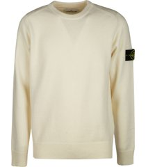 stone island logo patched ribbed sweater