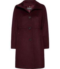 coats woven wollen jas lange jas rood esprit collection