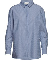 03 the shirt overhemd met lange mouwen blauw denim hunter