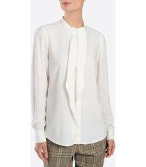 summum 2s2280-10962 blouse long sleeves uni viscose wit
