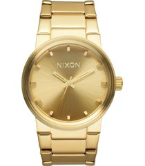 nixon cannon bracelet watch, 39.5mm in gold at nordstrom