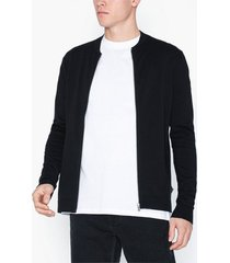 premium by jack & jones jpredgar knit zipper baseball cardi tröjor svart