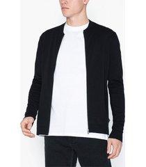 premium by jack & jones jpredgar knit zipper baseball cardi tröjor svart