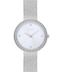 orologio donna stroili watches acciaio vienna quadrante argento per donna