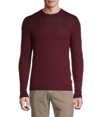 ted baker men's ribbed wool-blend sweater - dark red - size 3 (m)