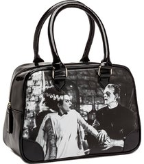 bride of frankenstein we belong dead bowler vintage handbag