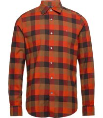 brushed twill check shirt overhemd casual rood calvin klein