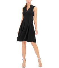 calvin klein petite star-neck a-line dress