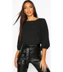 batwing sleeve blouse, black