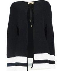 poncho capa algodão feminina abertura braços casual conforto - feminino