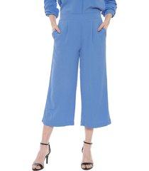 pantalón vero moda culotte annie celeste - calce holgado