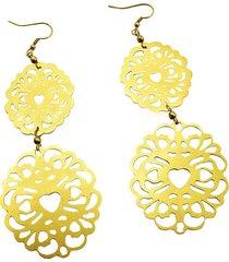 aretes de mujer oro 2 maschere brass colection by vestopazzo