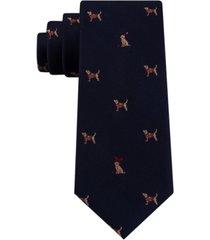 tommy hilfiger men's festive dog tie