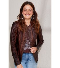 maurices womens brown basic faux leather jacket