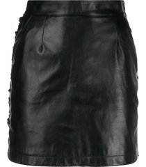 almaz lace embroidered skirt - black