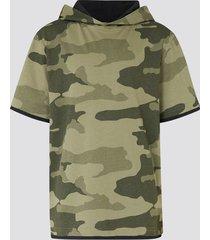 t-shirt med luva - grön