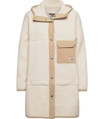 w flc mashup coat wollen jas lange jas crème the north face