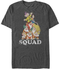 disney men's snow white dwarf squad goals short sleeve t-shirt