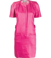 valentino pre-owned 1980s gathered details straight-fit dress - pink