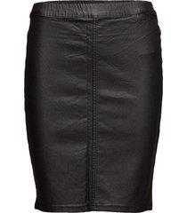 ada coated skirt knälång kjol svart kaffe