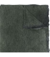 avant toi raw-edge oversized scarf - green