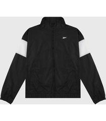 chaqueta negro-blanco reebok linear logo
