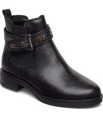 batel/stivaletto /leat shoes boots ankle boots ankle boots flat heel svart guess