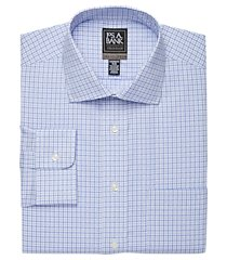 travel tech collection tailored fit spread collar plaid shirt clearance, by jos. a. bank