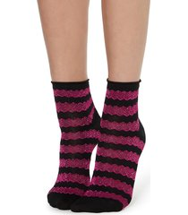 calzedonia - fancy patterned socks, one size, pink, women