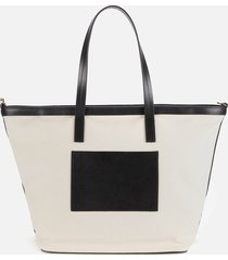 paul smith women's medium canvas tote bag - white