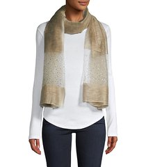 silk & wool-blend scarf
