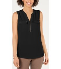 jm collection zip-front utility top, created for macy's