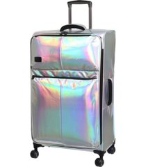 "it girl spellbound 31"" holographic lightweight expandable spinner suitcase"