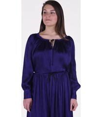 forte_forte blouse 7251 paars-blauw