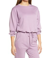 women's all in favor french terry drawstring pullover, size x-large - purple