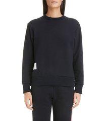 women's thom browne stripe back sweater, size 2 us - blue