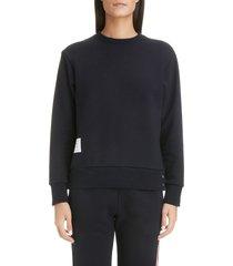 women's thom browne stripe back sweater, size 2 us / 38 it - blue