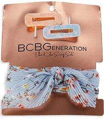 3-piece hair clip & bandana set