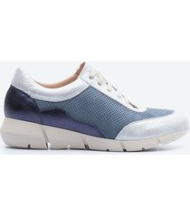 tenis casuales mujer freeport z00n azul oscuro