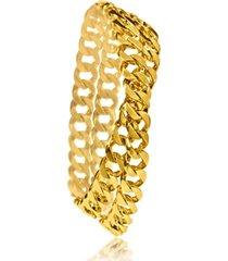 mini double wrap curb link bracelet