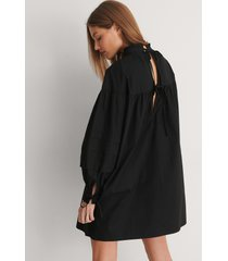 curated styles detail cotton dress - black
