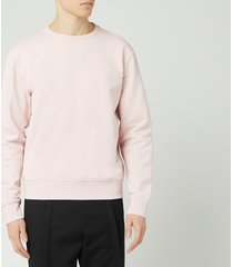 maison margiela men's elbow patch sweatshirt - peony pink - xl