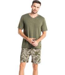 pijama masculino curto estampado guilherme