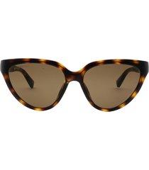 balenciaga balenciaga bb0149s havana sunglasses