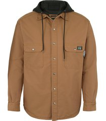 wolverine men's fr canvas jacket brown, size l