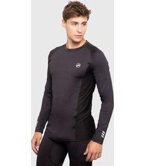 camiseta palmers m/larga c/r microfibra gris - calce ajustado