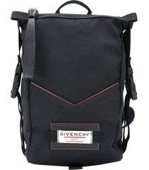 black pannier backpack