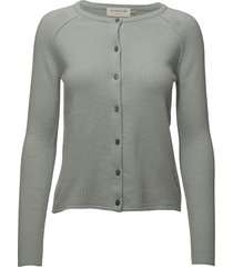 cardigan ls stickad tröja cardigan grå rosemunde