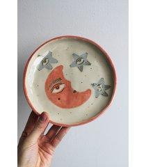 ceramiczny talerz księżyc i gwiazdy 1